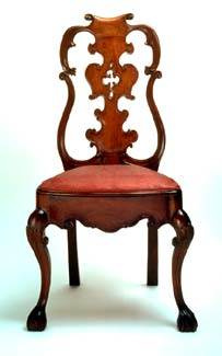 Side Chair Franz Mayer Collection Carved Wood With Fretwork 1750 1800